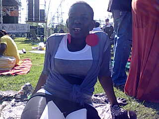 Lol. Jk. This is me eating life at Blankets and Wine yesterday. I didn't carry any of my phones.